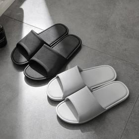 【防滑不易变形 柔软舒适】日式细纹简约浴室凉拖 既能当夏季户外凉拖也可作为浴室拖 鞋底防滑纹理设计