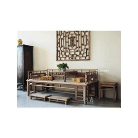 中式实木罗汉床+炕桌(套2)