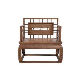 新仿黑胡桃木新中式单人沙发椅休闲椅椅子QN1706001655 Newly made Black walnut wood Reproduction Single sofa