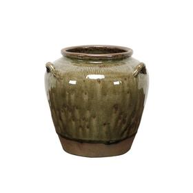 新仿瓷器仿古瓷器黄釉罐QQ18010049 Newly made Porcelain Green jar