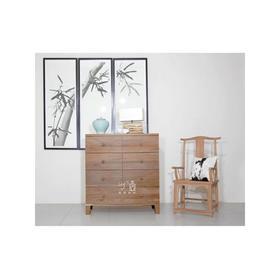 异形实木七斗柜