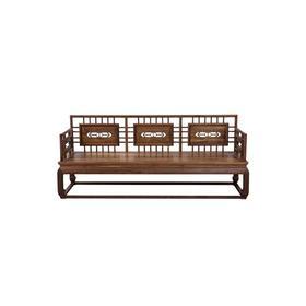 新仿黑胡桃木新中式三人沙发椅长椅椅子QN17060015100 Newly made Black walnut wood Reproduction Long sofa