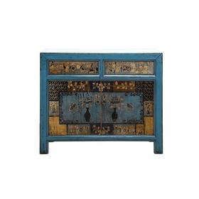 新仿松木仿古家具二屉二门柜中号柜玄关柜QB18100001 Newly made Pine wood Cabinet