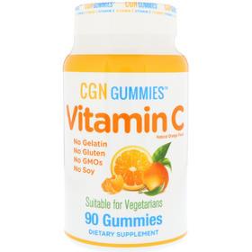 【海外购】California Gold Nutrition, 维生素C软糖(天然香橙味)