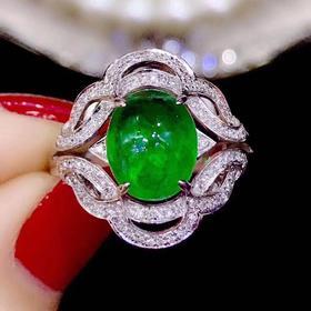 【D9031104】18k祖母绿戒指