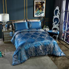 欧式贡缎提花纯棉四件套   1被套+1床单+2枕套