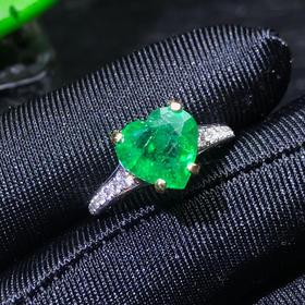 【DD9022615】18k金心形祖母绿戒指