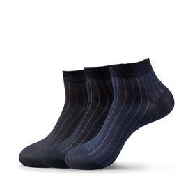 夏季丝光棉男袜男士素色丝袜条纹薄款清凉透气