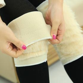 冬季羊毛护膝透气保暖老寒腿男女士加厚骑车防风羊毛加长护膝ZMXNHX