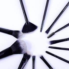"""「女人的""""一把刷子""""」泰国sivanna化妆刷子套装12件装专业软毛眼影刷粉底散粉腮红刷 便携 轻松抓粉"""