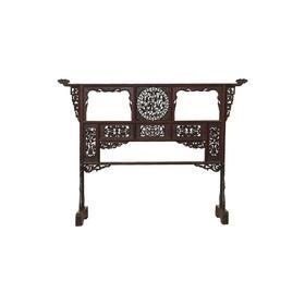 清晚期榆木中式古董家具衣架老衣架雕龙衣架Q16080025240