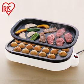 日本IRIS爱丽思家用章鱼小丸子机煎烤肉机小型烤盘铁板烧ITY-24W