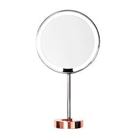 AMIRO镜子化妆镜C系列玫瑰金高清日光LED台灯带灯台式桌面公主镜