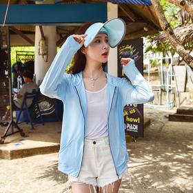 [品牌直发] 韩国VVC夏季防晒衣女外套新款长袖防晒服中长款户外薄防晒衫(VVC)