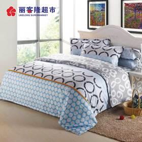 13370纯棉四件套全棉斜纹印花四件套床单式纯棉春夏四件套被套床单
