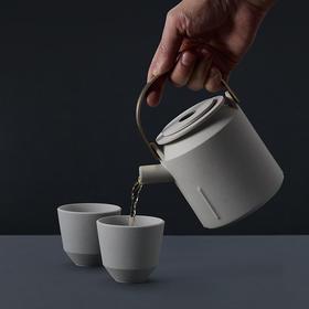设计师款 | 短嘴提梁壶 · 景德镇材料工艺再设计 · 一壶两杯套装 · 壶容量450ml(景德镇48小时发货)