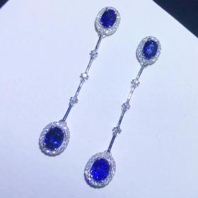 【D9031815】斯里兰卡蓝宝石耳环