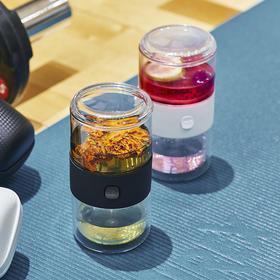 哲品派杯便携旅行玻璃快客茶具套装飘逸杯茶水分离功夫泡茶杯家居