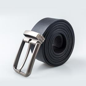 平纹牛皮针扣皮带男士休闲百搭腰带商务简约牛皮针扣裤带礼盒装