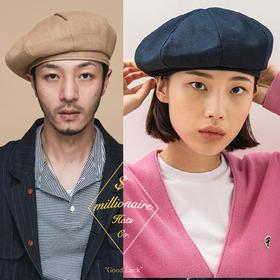 Millionaire Hats韩国设计师品牌日系ins纯棉八角贝雷帽女坏月亮PLUS