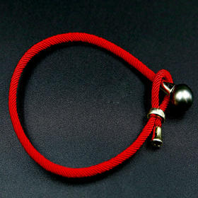 10mm大溪地黑珍珠纯银转运绳