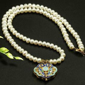 景泰蓝工艺配饰天然淡水珍珠项链、手链