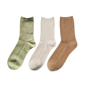 中筒袜:纯天然彩棉,双针工艺,质地纯净,给肌肤安全呵护。