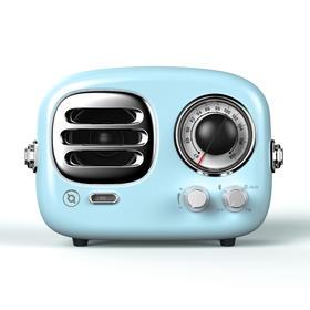 猫王收音机 Radiooo积木式多士60s 便携式蓝牙音箱复古无线小音响迷你 家用餐厅客厅创意重低音 蓝色
