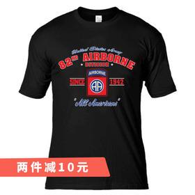 【美式第82空降师】纯棉舒适透气T恤