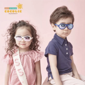 韩国COCOLIC 儿童太阳镜 防晒护眼防水防紫外线 个性时尚
