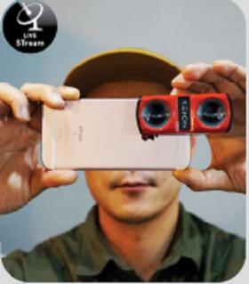【手机3DVR外置镜头】全景手机镜头360外置拍照可立拍iphone鱼眼镜头拍照配件