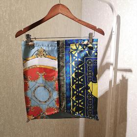 manipuri 印花丝巾单肩包 红色款
