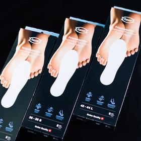 「黑科技清爽抑臭鞋垫」8双装 瑞士FLAWA鞋垫 清香防臭 轻薄透气 抑制脚气  防滑固定