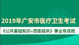 2019年广安市医疗卫生考试《公共基础知识+西医临床》事业有成班
