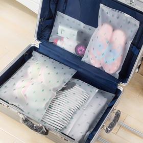 【PVC材质 防水不易刮破】透明仙人掌旅行收纳袋 5个组合装 环保便携