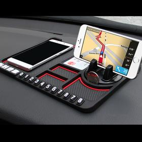 【火爆汽车圈】车载三合一神器 手机支架&停车牌 &防滑垫,聪明的老司机都在用!