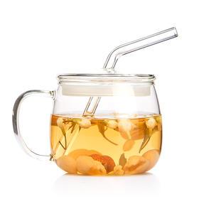 雅集 茗果吸管杯 办公室创意花茶杯