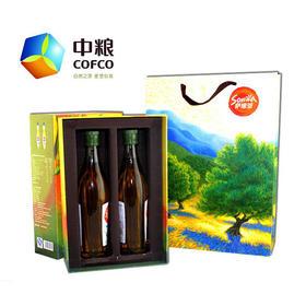 中粮悠采萨维亚特级初榨橄榄油礼盒 500ml*2瓶/盒