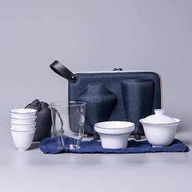 景德镇便携式旅行功夫茶具茶杯盖碗套装快客杯泡茶器装迷你小茶具