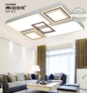 弗阳照明【新品上市】9589长方  111*73厘米三控变光辅光源 现代简约 客厅灯
