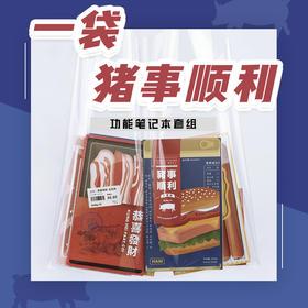 笔记本丨猪事顺利系列 4本套装 便携软抄本 网格康奈尔格车线TN配套手账本 原创设计