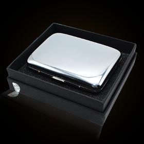 双枪烟盒 铜质镀铬镜面烟盒 16支装