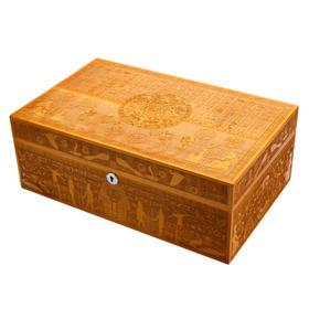 LUBINSKI 雪茄保湿盒 进口雪松木大容量手工雕纹醇化 原木雕纹