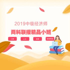 2019中级经济师热门专业两科联报精品小班