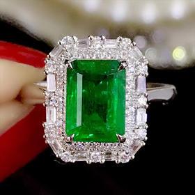 【D9010513】18k祖母绿戒指