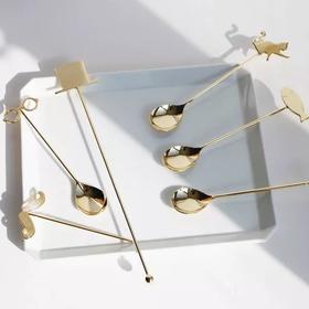 下午茶|elfin日本原产blingbling咖啡勺搅拌棒蛋糕叉水果叉系列