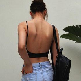 MIMI FANTASY 升级版防凸点 细肩带U型大露背无钢圈内衣
