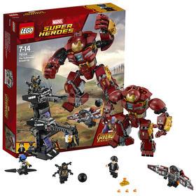 【六一儿童节礼物】乐高积木玩具 超级英雄系列 76104 钢铁侠反浩克装甲复仇者联盟3  76104