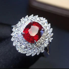 【D9011021】天然无烧鸽血红红宝石戒指吊坠两用款