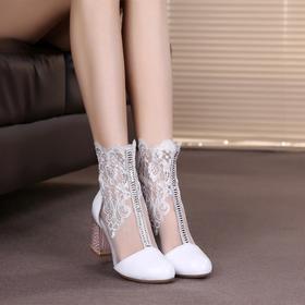 HN1186新款镂空蕾丝春网靴TZF